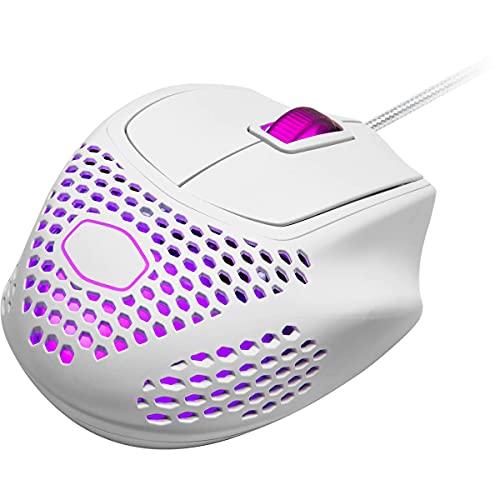 Mouse Gamer Cooler Master MM720 Matte White RGB Ultraleve Sensor PixArt PMW3389