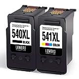 2 LEMERO Remanufacturado Cartuchos de Tinta para Canon PG-540XL CL-541XL para Canon Pixma MG2150 MG2250 MG3150 MG3250 MG3550 MG4150 MG4250 MX375 MX395 MX435 MX455 MX515 MX525 Impresora,Negro Color