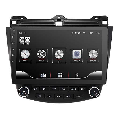 Radio del Coche 10.1 Pulgadas Sistema Multimedia del Coche para Honda Accord 7 2004 2005 2006 2007 Android 10 2GB RAM 32GB ROM Estéreo del Coche con WiFi 4G Enlace Espejo FM Bluetooth Audio Video