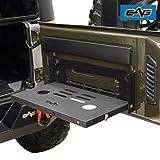 EAG Metal Tailgate Table Cargo Storage Rack Shelf Compatible with 07-18 Wrangler JK