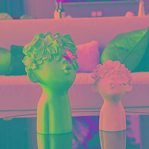 BEAUTYLE Statua Decorativa,Carattere in Resina Decorativa Artigianato, Creativo casa Soggiorno enoteca armadi Studio Ufficio Decorazione del Tavolo, (Due Set)