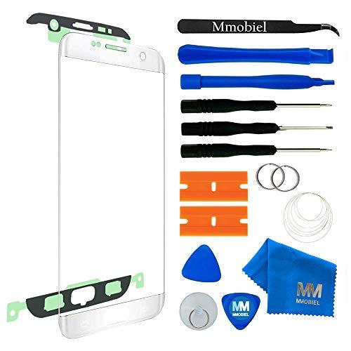 MMOBIEL Front Glas Reparatur Set kompatibel mit Samsung Galaxy S7 Edge G935 Series (Weiß) Display mit Werkzeug-Set