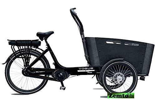 Elektro Transportfahrrad/Bakfiets Vogue Carry 7 Gang Schwarz-Grau*