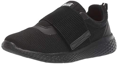 Avia Boys' Avi-Rio Sneaker, Black/Black/Shocking Orange, 6 Medium US Big Kid