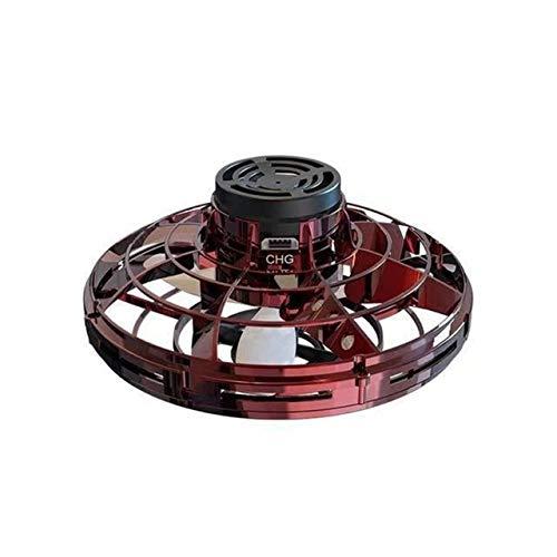 JIE Flying Gyro, Vuelo Libre Vehículo Inter-Vuelo, Inducción Gyro, Carga por USB, descompresión, platillo Volante giroscópico ( Color : Red )