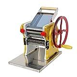 HXXXIN Máquina De Prensado En El Hogar Máquina De Fideos Pequeña Máquina Enrolladora De Envoltura De Albóndigas Multifunción Manual, Muy Adecuada para Pasta, Envoltura De Albóndigas,Yellow Style 2