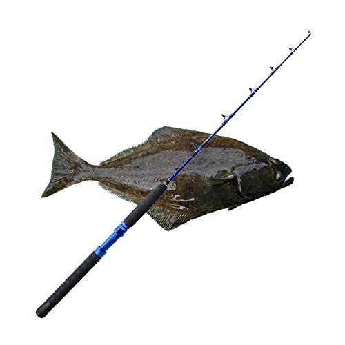 "Santiam Fishing Rods Travel Rod 1 Piece 48"" 30-130lb Braid Halibut/Tuna/Saltwater Rod"