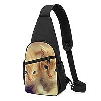 ボディバッグ ワンショルダー 斜めがけバッグ かわいい ねこ 猫柄 プリント ワンショルダーバッグ ボディーバッグ メンズ レディース 軽量 大容量 通勤通学旅行