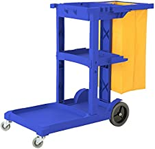 Commercial Housekeeping Janitorial cart with Vinyl Bag AF08170 Blue