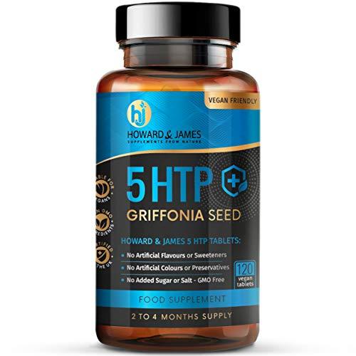 5-HTP 120 High Strength Tablets 200mg - 400mg Daily Serving Vegan
