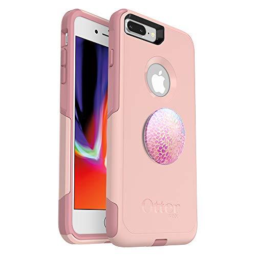 Bundle: OtterBox COMMUTER SERIES Case for iPhone 8 PLUS & iPhone 7 PLUS (ONLY) - (BALLET WAY) + PopSockets PopGrip - (PETAL POWER)