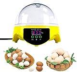 Huatuo 7 Huevos semiautomáticos Mini Digital Control de Temperatura incubadoras de Huevos Aves de Corral Hatcher para eclosionar Huevo de gallina Duck Egg