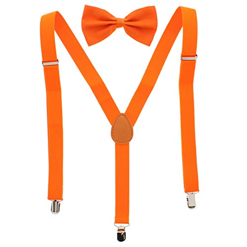Zac's Alter Ego® Men's Matching Suspenders & Pre-Tied Bow Tie Combo Sets for Stag Do's