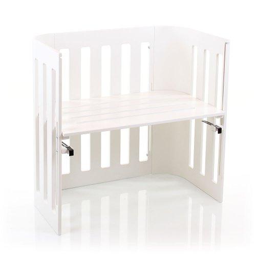 Babybay Trend Bedside Sleeper Cot, White Varnished