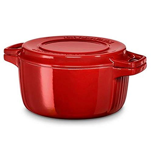 KitchenAid Kcpi 60CRER Cast Iron Cast Iron Roasting Tray 28 x 28 x 10 cm, Empire Red
