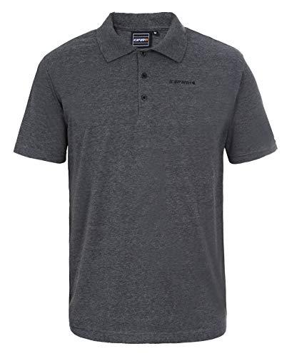ICEPEAK Herren Polt Pique Polo Shirt, dunkel grau, L