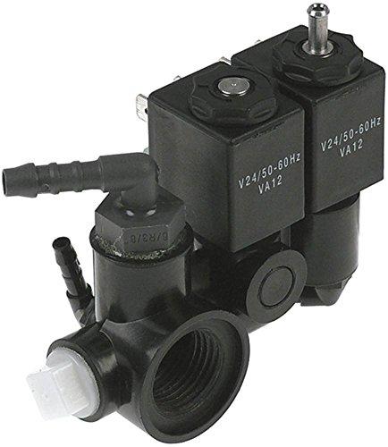 Unidad de válvula magnética para envasadora al vacío Cookmax 442003, Allpax MJ-4 24 V MJ 1/2 '1/2 pulgada conector de manguera ø 7,5 mm tipo de bobina VA12