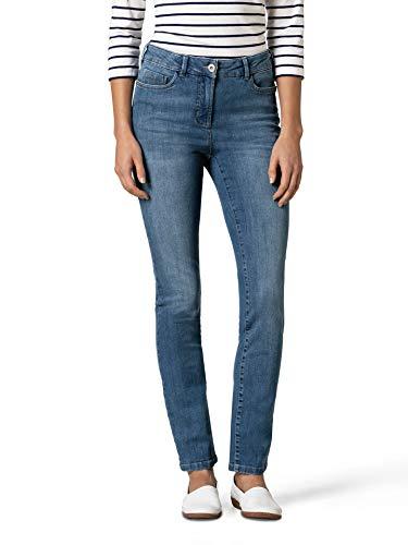 Walbusch Damen Push up Jeans einfarbig Mid Blue 42