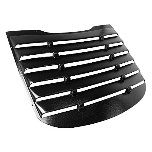 Spec-D Tuning Vintage Style Abs Black Rear Window Louver Cover 1 Pc for 2015-2018 Ford Mustang