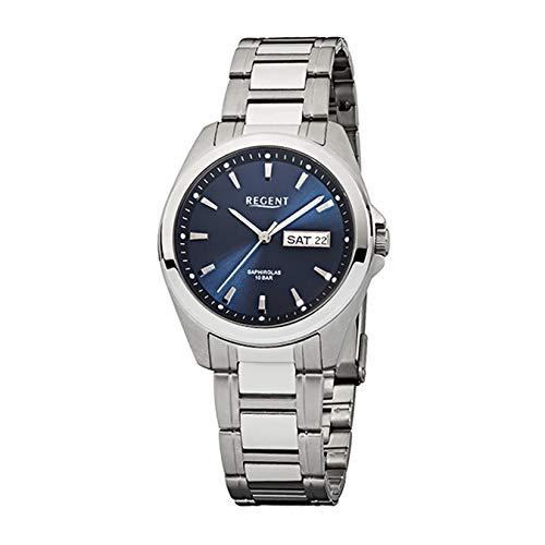 REGENT 11150521 Herren-Armbanduhr, Edelstahl-Armband