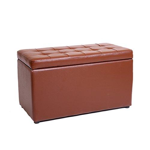 IAIZI PU lederen voetenbank opbergkruk poef bank stoel Ottoman met deksel kruk ondersteuning gestoffeerde voetsteun kussen voor hal woonkamer 60x30x35cm