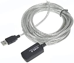 yan New 16FT 5M USB 2.0 A Male to A Female Data Built-in IC Extension Repeater Cable