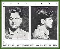 ポスター アンディ ウォーホル Most Wanted Men No. 2 John Victor G 額装品 ウッドベーシックフレーム(グリーン)