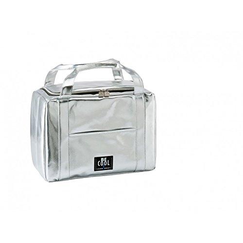 be Cool be Collection Silver, Borsa da Città, Size-Small, height-21cm, in PVC Foil