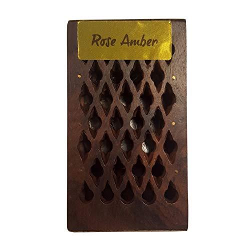 Räucherwerk Rose/Amber Duft Harz dekorativer Holzbox FindSomethingDifferent