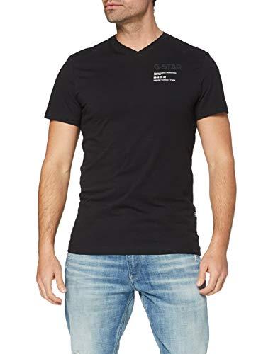 G-STAR RAW Chest Graphic Slim Camiseta, Dk Black 336-6484, M para Hombre