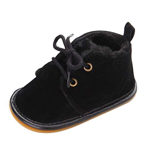 LANSKIRT Zapatos Niña Invierno Bebés Recién Nacidos Zapatillas Antideslizante Deporte Leopardos Botas de Esquiar Zapatos de Bebé Deportivos de Cuero con Suela Blanda Calzado