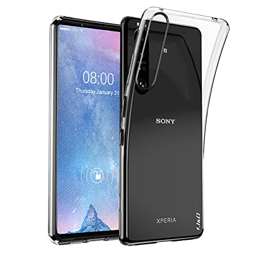 J&D Compatibile per Sony Xperia 1 III Cover, Peso Leggero Ultra-Chiaro Protettiva Snella Silicone Respingente Custodia per Xperia 1 III, Non per Sony Xperia 1 II, Trasparente