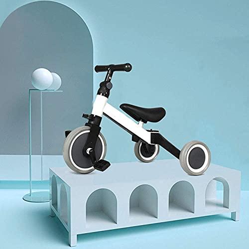 GPWDSN Triciclo portátil Triciclo 3 en 1 para niños de 1 a 3 años Niños Niñas Niños pequeños Triciclo 3 Ruedas Bicicleta de Equilibrio para bebés Triciclo Ligero Plegable Asiento Ajustable Biciclet
