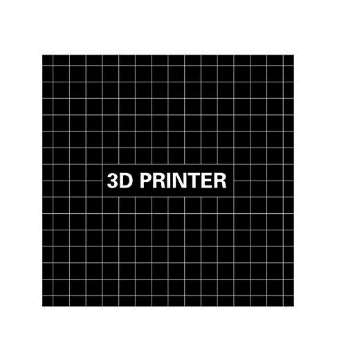 FairOnly 220x220mm Hoge Temperatuur 3D Print Bouw Oppervlak Platform met Wasbare Lijm Stick Sticker voor i3 Anet A8 A6 Ender-3 3D Printer
