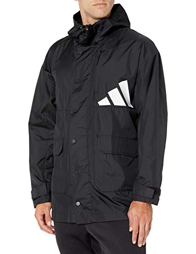 adidas Athletics Men's Pack Parka, Black/logo, Medium