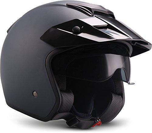 """SOXON® S77 """"Navy"""" · Jet-Helm · Motorrad-Helm Roller-Helm Scooter-Helm Bobber Mofa-Helm Vintage Pilot Biker Helmet · ECE S (55-56cm)"""