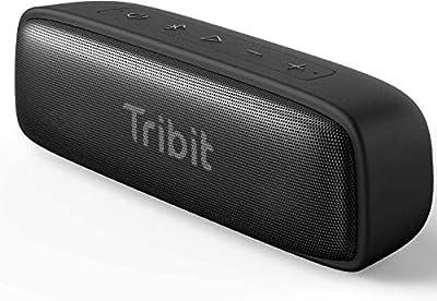 Bluetooth Speaker Tribit XSound Surf Portable 12W Wireless Speaker, Bluetooth 5.0, IPX7 Waterproof, Wireless Stereo Pairing,100ft Wireless Range Perfect for Home, Outdoor, Travel (Black) by Tribit