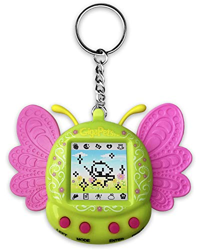 Giga Pets Pixie Virtual Pet Electronic Toy (Green), Nostalgic 90s Toy in Form, 8 Different Pixie Evolutions, Collect Elements, Cast Spells, Craft Potions, for Kids of All Ages