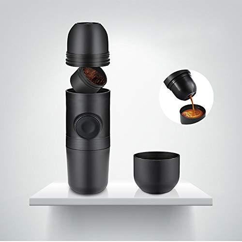 Kaffeemaschine Tragbare Espressomaschine Handpresse KaffeemüHle Kaffee Begleitende Tasse Kaffeekanne Halbautomatische Kolben BüRo Auto Camping Reise