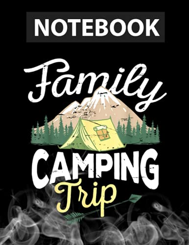 Matching Family Camping Trip Matching Vacation Journal Notebook / Greeting Card Alternative / 130 Pages 8.5''x11'