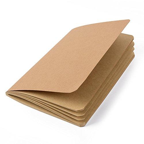 Scrapbook zum Verzieren, Notizheft aus Naturpapier, Bastel-Heft, Schreibheft, Schulheft aus feinem Kraftpapier DIN A5 (14,8 x 21 cm) 80 blanko Seiten für Ideen, Notizen, Skizzen und mehr