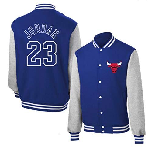 Toros 23# Jordan béisbol Uniforme de la Chaqueta con Capucha de la Capa del suéter de algodón 3 Colores,Azul,3XL