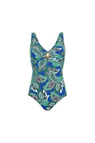 Anita L87810-350 Women's RosaFaia Ocean Blue Paisley Costume One Piece Swimsuit 75D
