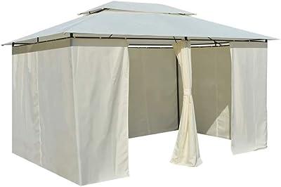 TecTake 800793 Carpa Pabellón 3x4m, Tienda Cenador, Impermeable & Resistente a UV, Fiestas Eventos, Terraza Jardin Exterior, Incl. Paneles Laterales (Crema): Amazon.es: Jardín