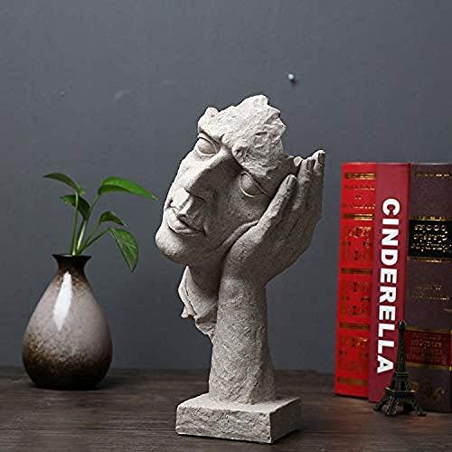 YsKYCA Estatua Escultura Decoración Estatuilla Artesanía Moderna Simple Bar Café Sala De Estar Regalo Adornos Estatuas Y Figuritas Un Escritorio Retro Artesanía De Resina Accesorio para El Hogar