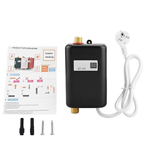 FTVOGUE Elektronischer Durchlauferhitzer, 220V 3800W Mini Electric Tankless Instant Warmwasserbereiter Bad Küche Waschen EU(02)