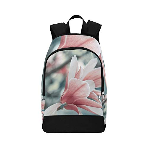 WSNWCY Bags for Men Hiking Delicate Beautifui Magnolia Durable Water Resistant Classic Best Backpack College Gift Bags Sports Lunch Bag Kids Hiking Bag