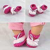 Süße Puppen Schuhe Ballerinas Sandalen für verschiedene Puppen, gestrickt, gehäkelt, Handarbeit, Handmade, NEU