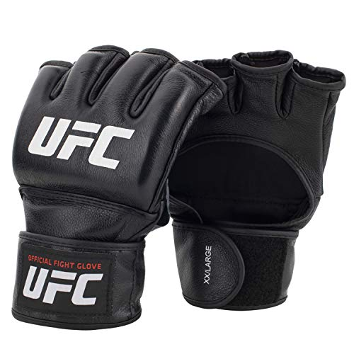 UFC white and black mma gloves