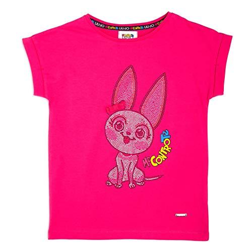 LIU JO ME CONTRO TE Bambina 4B1303 TX190 Fuxia T-Shirt Estate 10 Anni